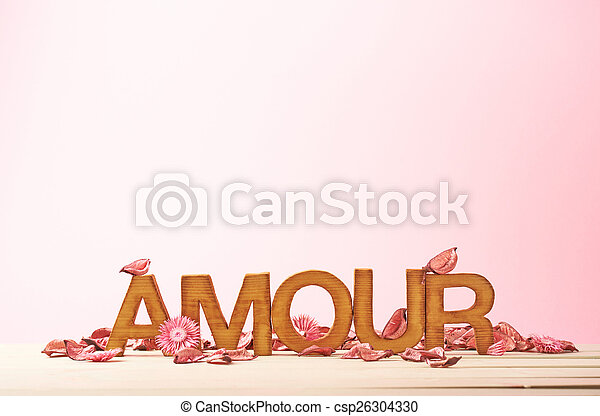 Love composition of letters - csp26304330