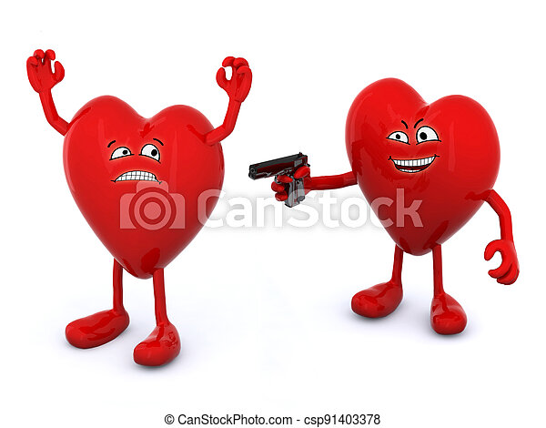 love conflict concept - csp91403378