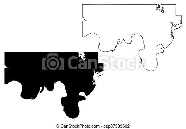 Love County, Oklahoma State (U.S. county, United States of America, USA, U.S., US) map vector illustration, scribble sketch Love map - csp87333602