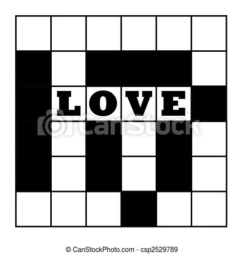 Love Crossword Puzzle Blank With Word