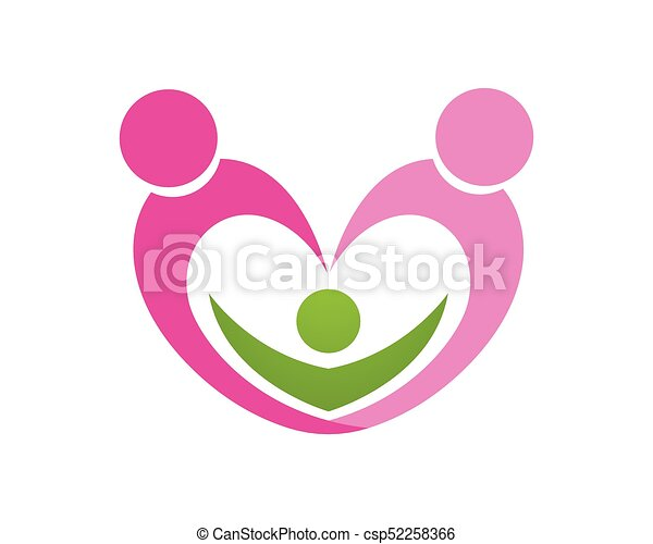 Love Family Logo And Symbols Vector Template Icons App