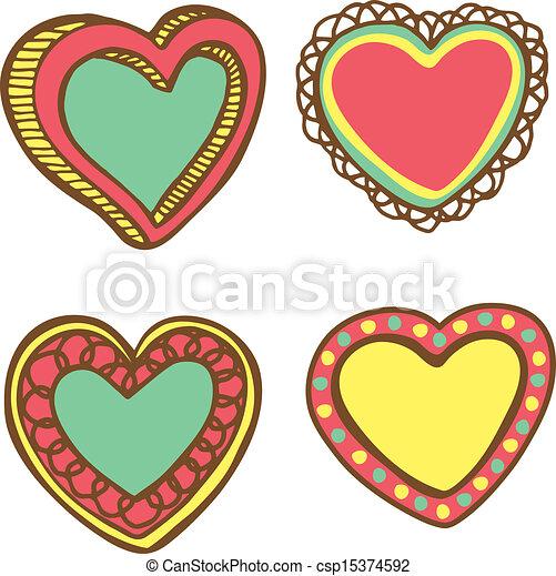 love frame doodle - csp15374592