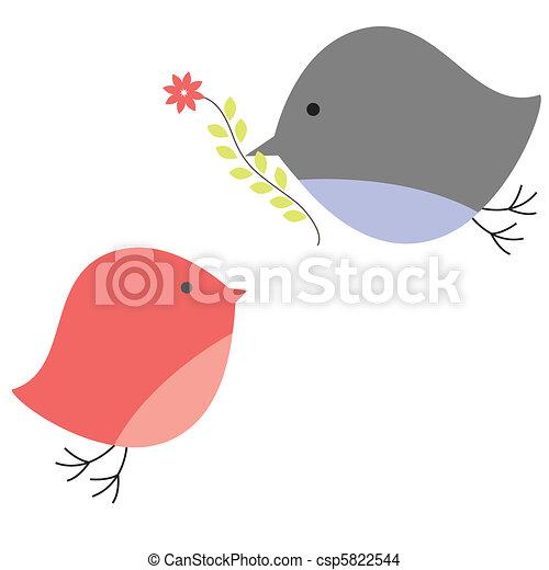 love., fugle, baggrund - csp5822544