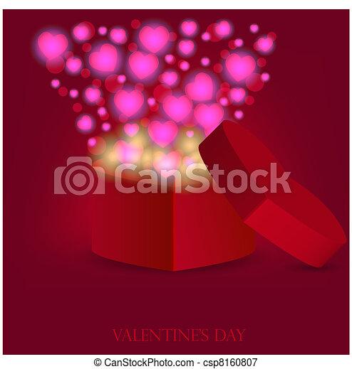 love gift for valentine's day. Vector illustration - csp8160807