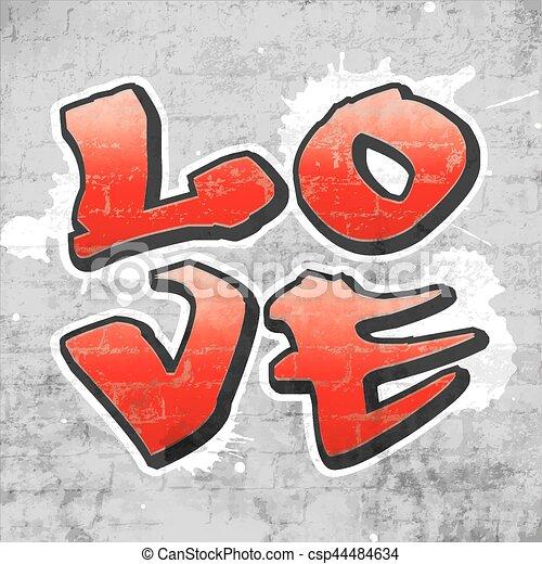Love graffiti - csp44484634
