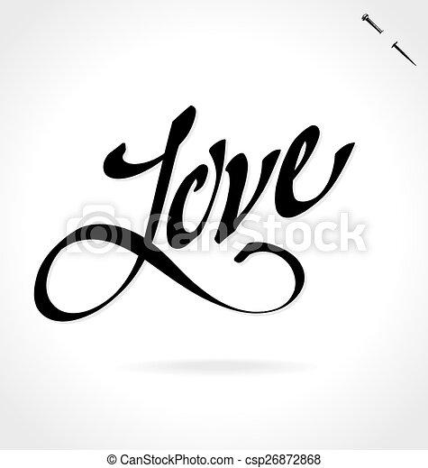 LOVE hand lettering (vector) - csp26872868