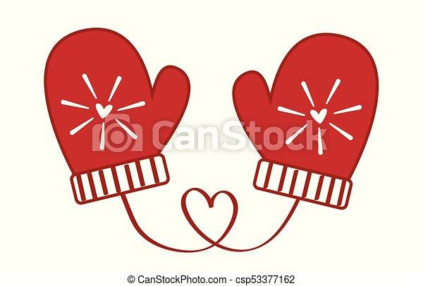 love heart christmas mittens csp53377162 - Christmas Mittens
