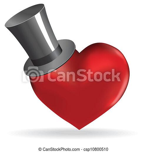 Love Heart In Hat Valentine Cute Background Love Heart In Hat