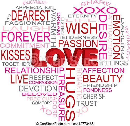 Love Heart Shape Word Cloud Il Ration