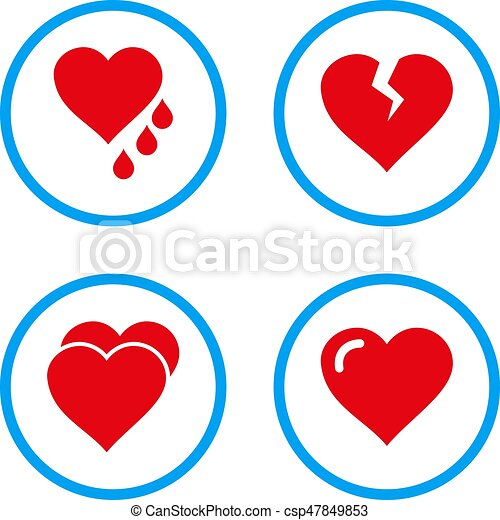 Love Hearts Rounded Vector Icons Love Hearts Rounded Icons Vector