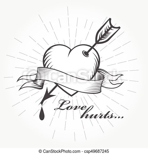 Love Hurts Clipart Vector And Illustration 970 Love Hurts Clip Art