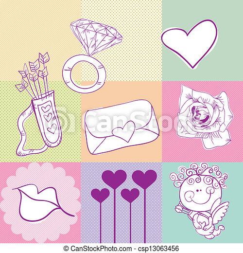 Love Icons - csp13063456