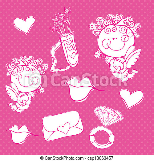 Love Icons - csp13063457