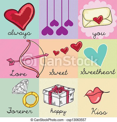 Love Icons - csp13063557
