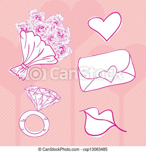 Love Icons - csp13063485