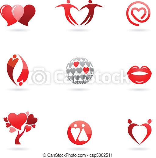 Love icons - csp5002511