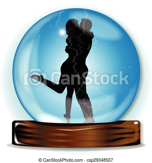 Love In The Crystal Ball - csp29348507