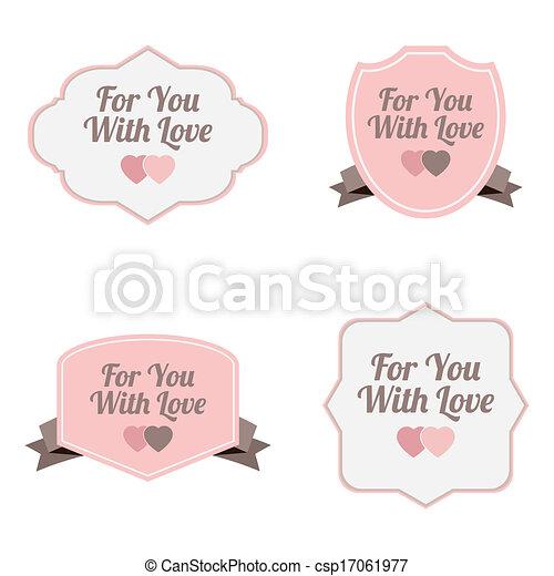Love labels - csp17061977