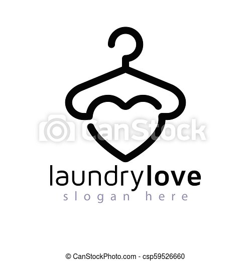 love laundry logo vector element laundry logo template https www canstockphoto com love laundry logo vector element 59526660 html