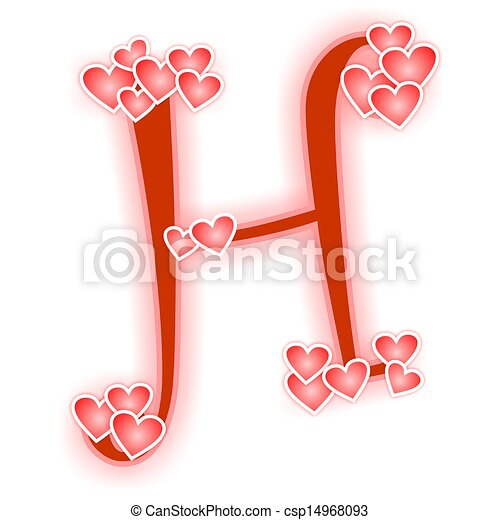 love letter, alphabet h. love alphabet decorated with stock