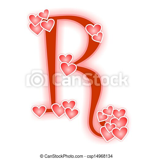 love letter alphabet r love alphabet decorated with hearts