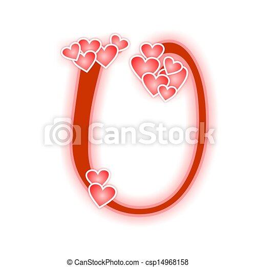 Love letter, alphabet ...U Letter Love