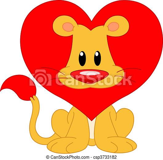 Love lion - csp3733182