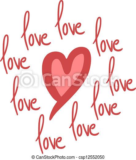 Love message - csp12552050