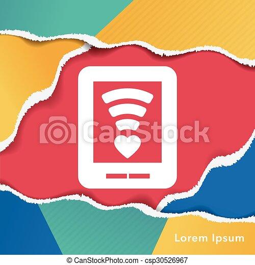 love message icon - csp30526967