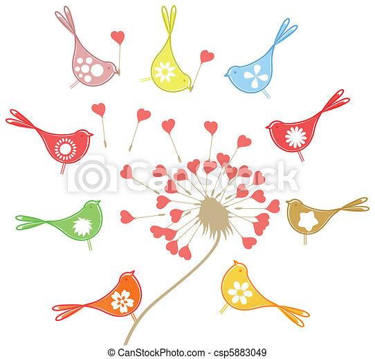 Love of birds4 - csp5883049