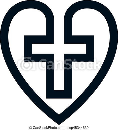 Love Of God Conceptual Symbol Combined With Christian Cross And