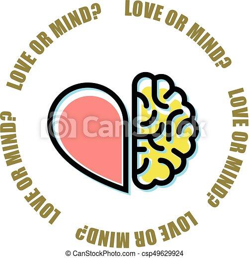 Love Or Mind Half Of Heart And Brain Mercenary Marriage Symbol