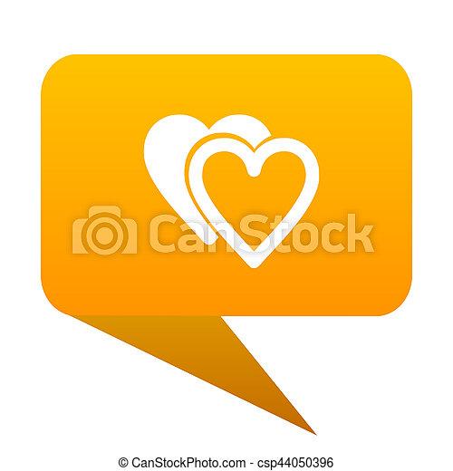 love orange bulb web icon isolated. - csp44050396