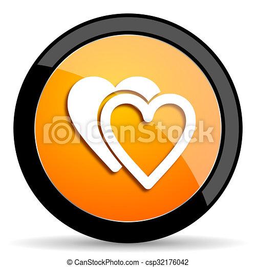 love orange icon - csp32176042
