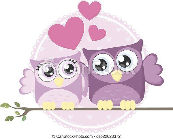 love owls couple - csp22623372