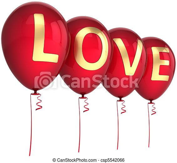 Love party balloons - csp5542066