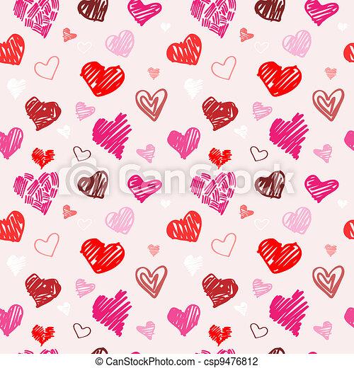Love pattern vector texture. - csp9476812