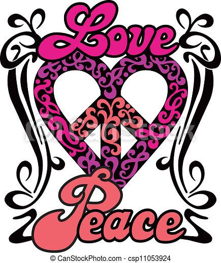Love Peace Heart - csp11053924