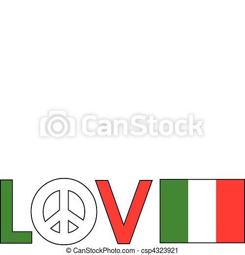 Love Peace Italy - csp4323921