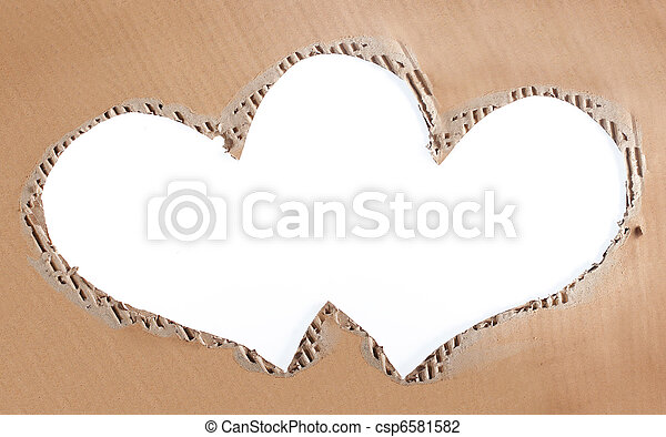 love photo frame made of cardboard - csp6581582