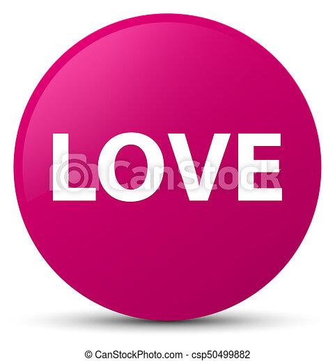 Love pink round button - csp50499882