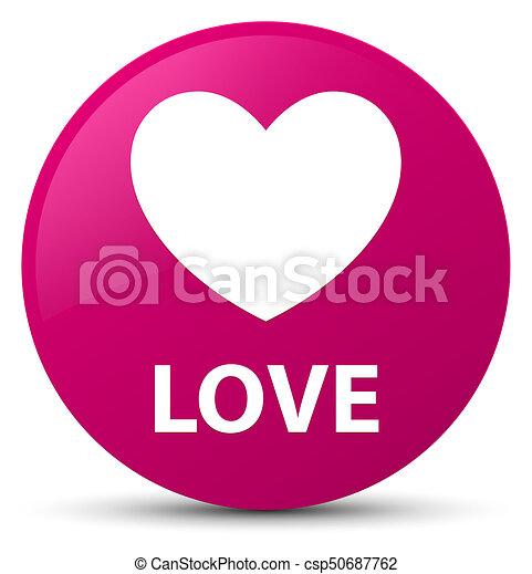 Love pink round button - csp50687762