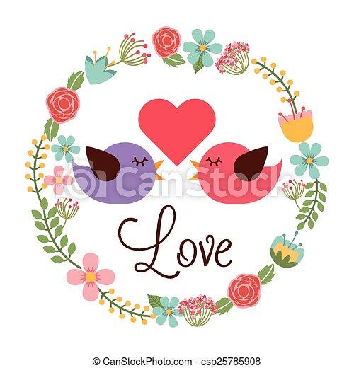 love postcard - csp25785908