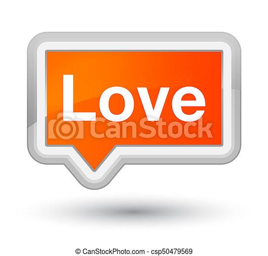 Love prime orange banner button - csp50479569