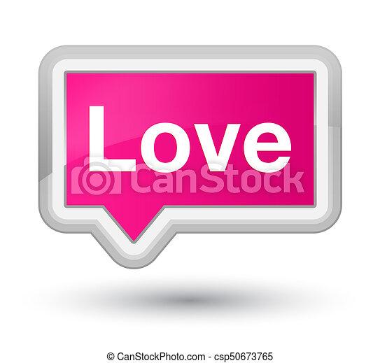 Love prime pink banner button - csp50673765