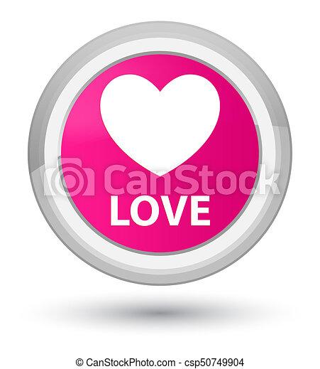Love prime pink round button - csp50749904