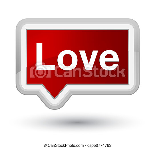Love prime red banner button - csp50774763
