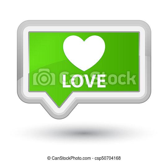 Love prime soft green banner button - csp50704168
