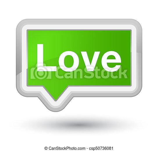Love prime soft green banner button - csp50736081