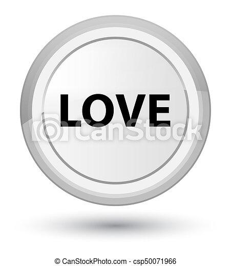 Love prime white round button - csp50071966